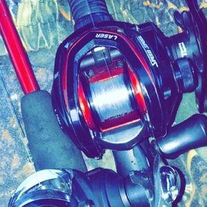 Lews fishing pole